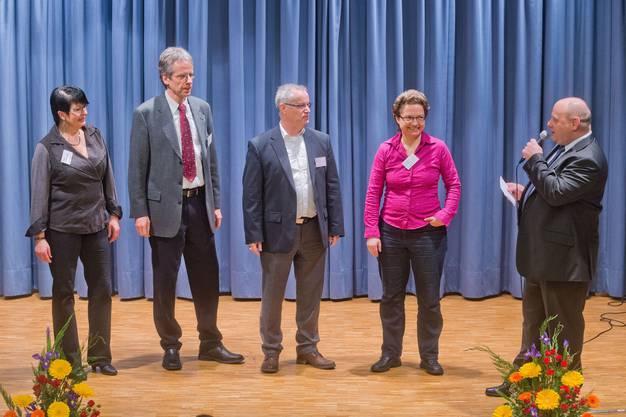 Gemeinderat Spreitenbach von links Doris Schmid Stefan Nipp Markus Mötteli Monika Zeindler Valentin Schmid
