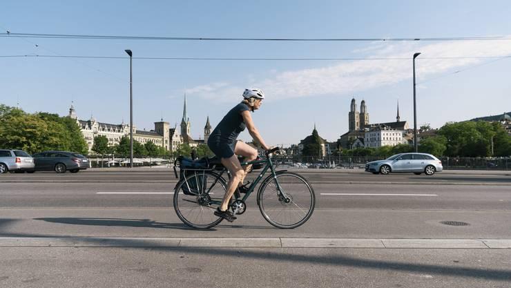 Auch Professorin Ulrike Lohmann vom ETH-Institut für Atmosphäre und Klima macht jeweils bei Bike to work mit.