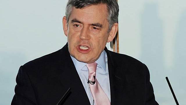 Britischer Premier Gordon Brown im Wahlkampf