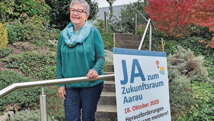 Blick in die Zukunft: Alt-Gemeinderätin Beatrix Donzé sieht beide Entfelden im Zukunftsraum.