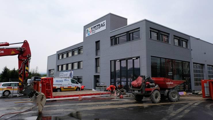 Heute gehts los: Der Neubau der Auto AG Limmattal im Gewerbepark.