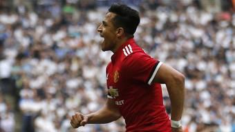 Glich für Manchester United im Cup-Halbfinal im Wembley gegen Tottenham zum 1:1 aus: Alexis Sanchez