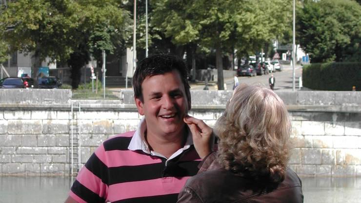 Volksmusik-Star Marc Pircher wird für die Kamera schickgemacht