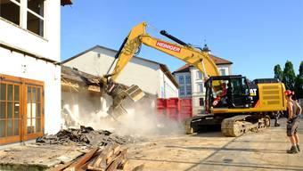 Das Schulhaus Muhen wird abgerissen