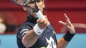 Novak Djokovic traf gegen Lorenzo Sonego den Ball selten optimal