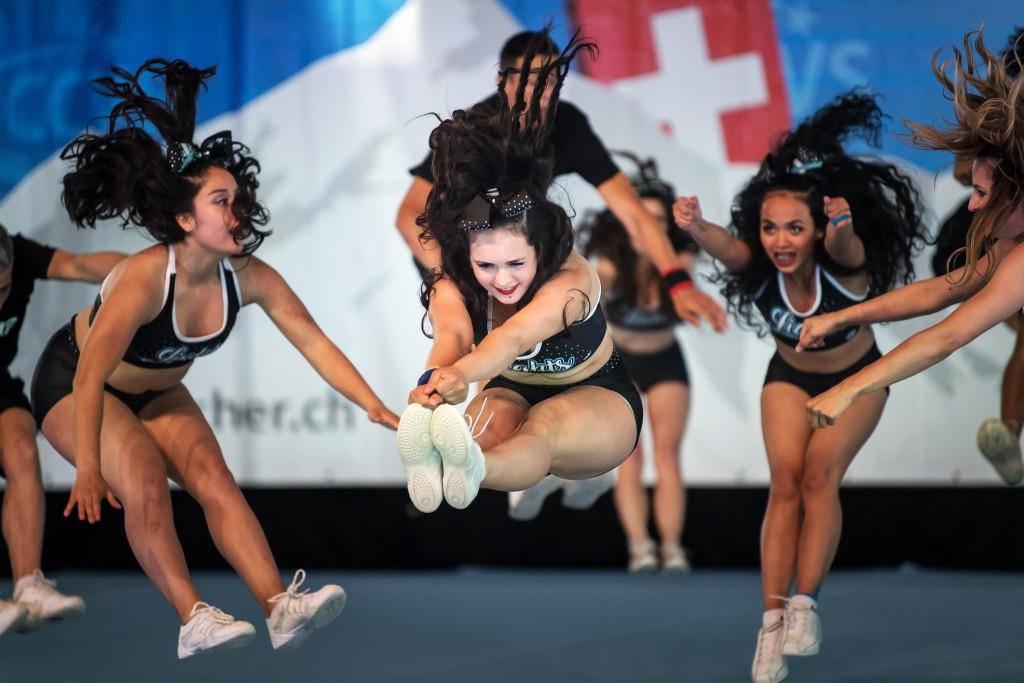 St.Galler Cheerleader an Schweizermeisterschaft (© Tagblatt)