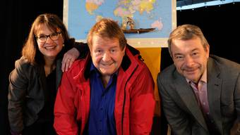 Sabine Bachmann-Frey, Hanspeter Müller-Drossaart und Sven Bachmann-Frey sorgten mit ihrer Weltreise für einen besonders besinnlichen dritten Advent.