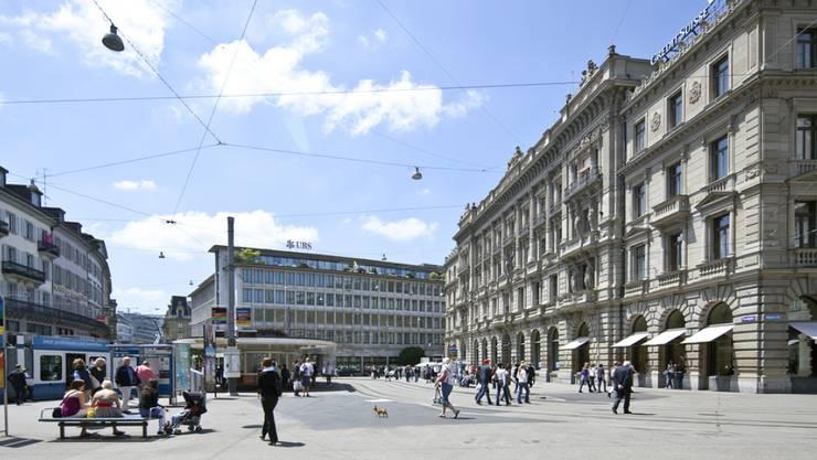 Die Region Zürich rangiert beim europaweiten Vergleich 60 Prozent über dem EU-Durchschnitt. Bild: Zürcher Paradeplatz