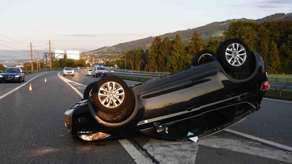 Mehrere Unfälle sorgten für Stau auf A1