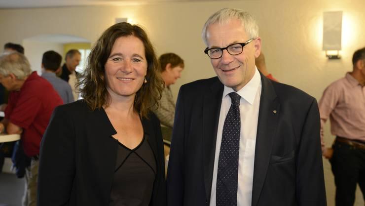 Die beiden traten bei den Solothurner Stadtpräsidiumswahlen 2017 gegeneinander an: Franziska Roth (SP) und Kurt Fluri (FDP)
