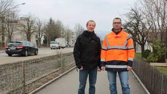 Markus Kissling (l.) und Harry Veigl sind für das Projekt zuständig.