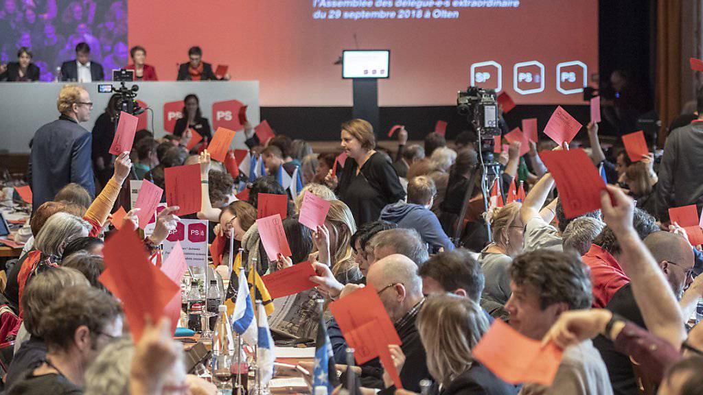 Holten sich Schwung fürs anstehende Wahljahr: Die Delegierten der SP Schweiz.