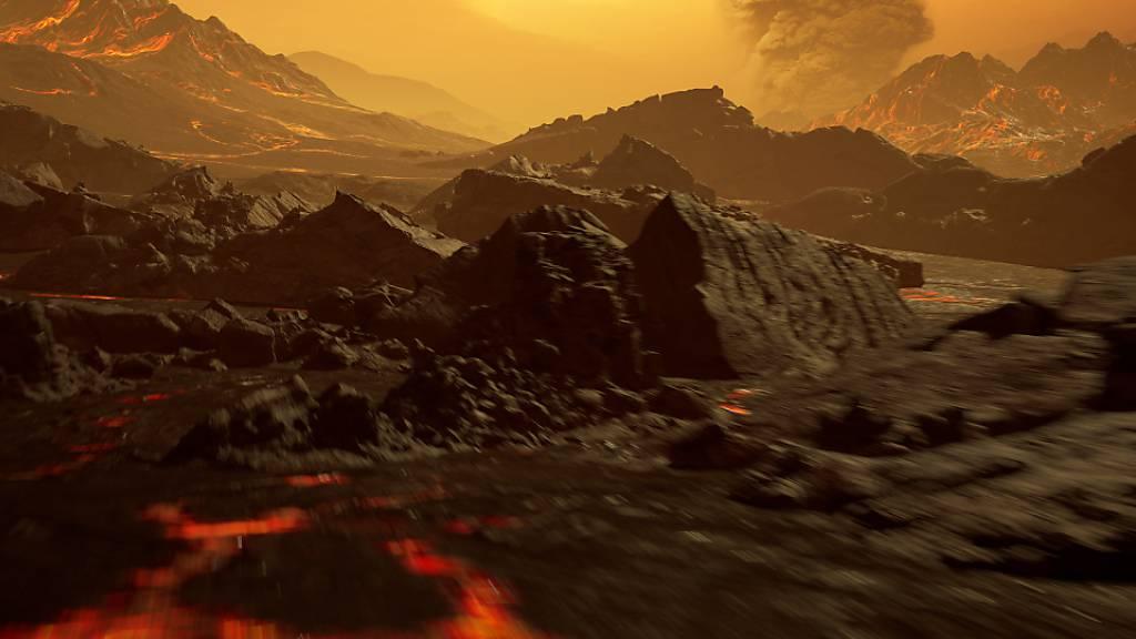 Astronomen entdecken nahe und glühend heisse Super-Erde