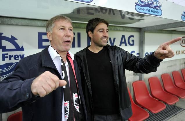 Aufstiegs-Trainer René Weiler und Alfred Schmid