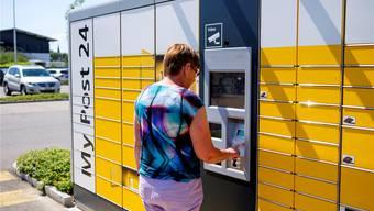 Ein Paketautomat, wie er im Mai im aargauischen Oberentfelden aufgestellt wurde.