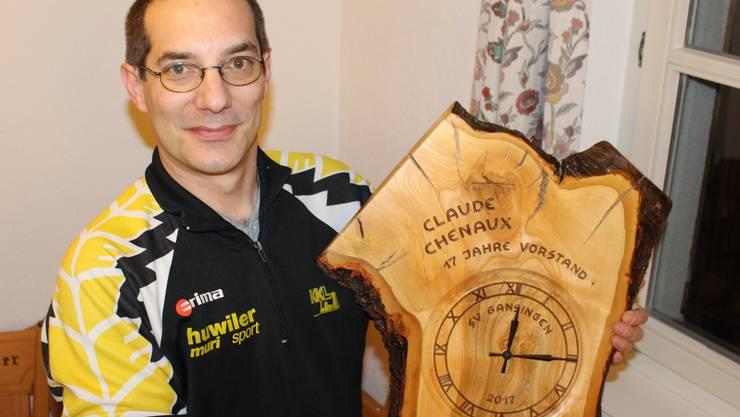 Scheidender Präsident und neues Ehrenmitglied Claude Chenaux