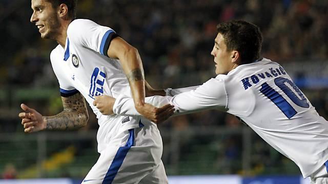 Ricardo Alvarez (l.) Torschütze zum 1:0 für Inter.