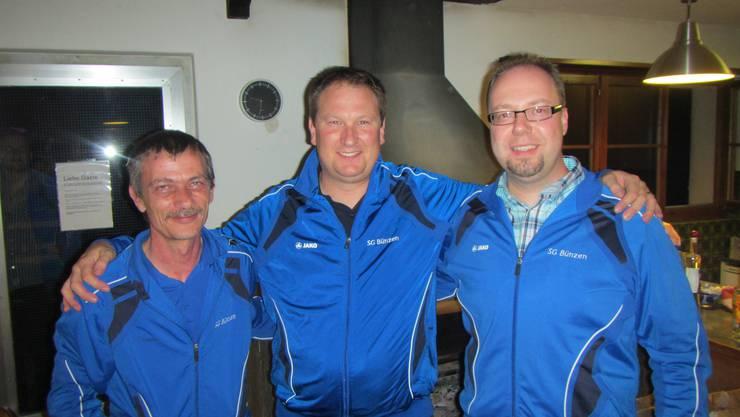 von links nach rechts: 2. Rang Urs Frey, 1. Rang Philipp Moser, 3. Rang Bruno Barmettler