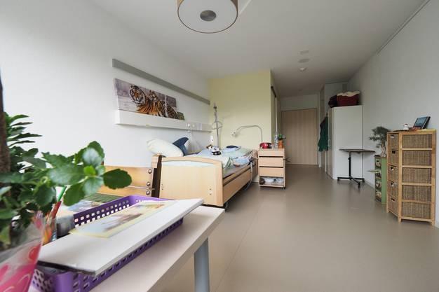 Einblick in eines der neuen Pflegezimmer.