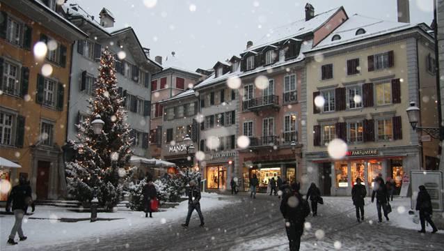 So winterlich war es in Solothurn während der ersten Dezemberhälfte. (Wolfgang Wagmann)
