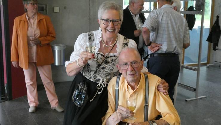 unser ältestes Mitglied Rudolf Schneeberger mit Margrit Maier
