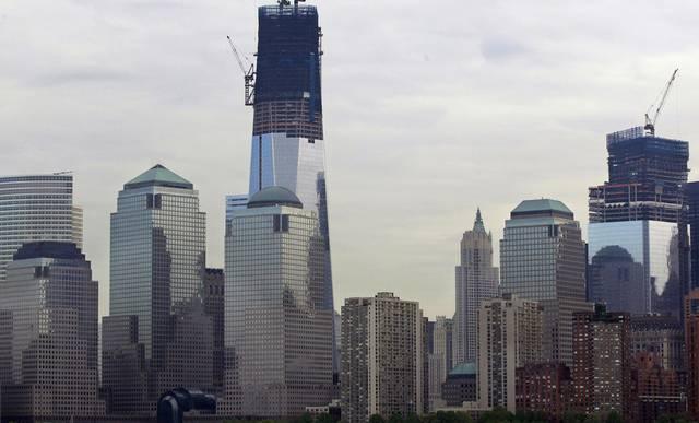 Das One World Trade Center (l.) ist das höchste Gebäude New Yorks (Archiv)