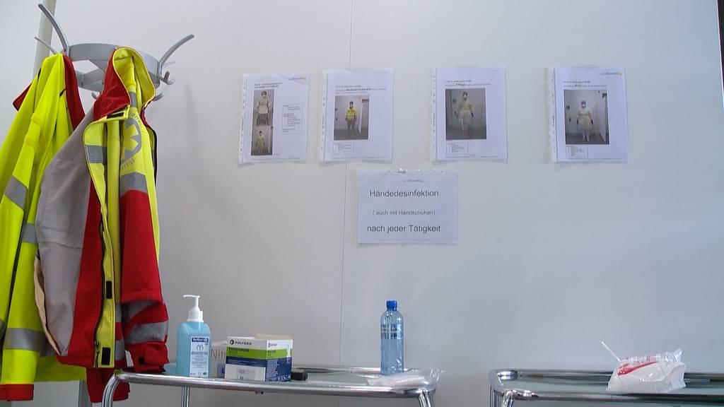 Corona-Vorbereitungen im Spital Limmattal