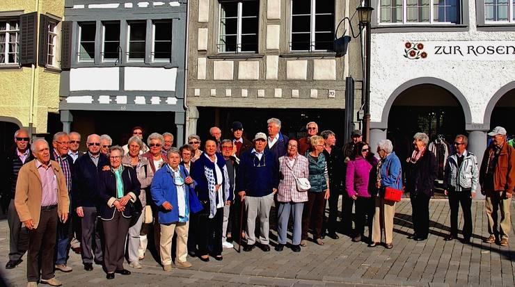 Gruppenfoto in der Altstadt Wil