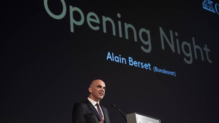 Auftritt als Kulturminister: Bundesrat Alain Berset eröffnet das Zurich Film Festival.