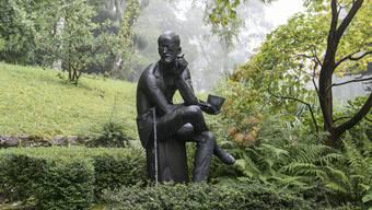 Das Grab von Jamey Joyce auf dem Friedhof Fluntern in Zürich.