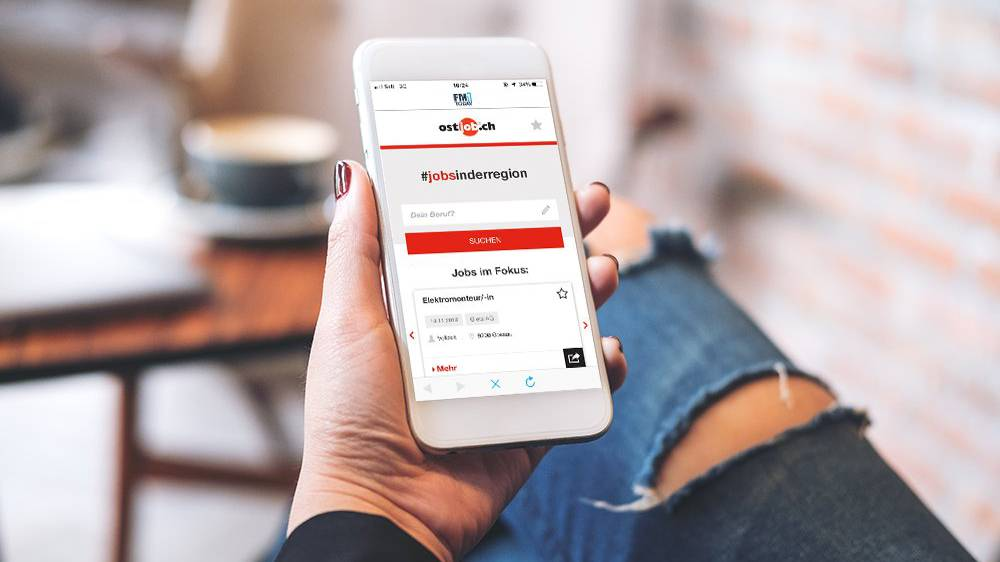 FM1Today und «ostjob.ch» erleichtern dir deine Jobsuche.