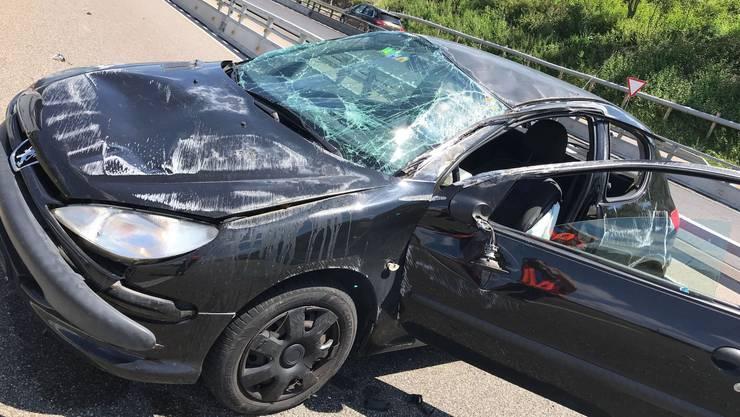 Ein 23-Jähriger verunfallte auf der A2 bei Muttenz.