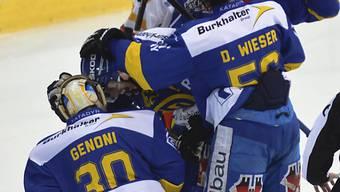Davoser Jubel nach dem Sieg gegen Lugano