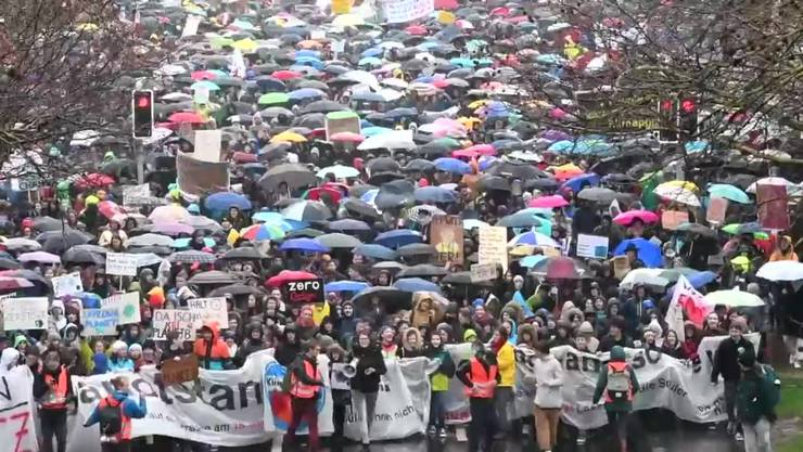 Klimastreik-Demonstration in Zürich