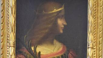 Das vermeintliche Da Vinci-Bild «Isabella d'Estes», welches die Kantonspolizei Tessin konfiszierte.
