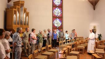 Schwester Maria führte am Samstagnachmittag durch das Dominikanerinnen-Kloster Rickenbach.