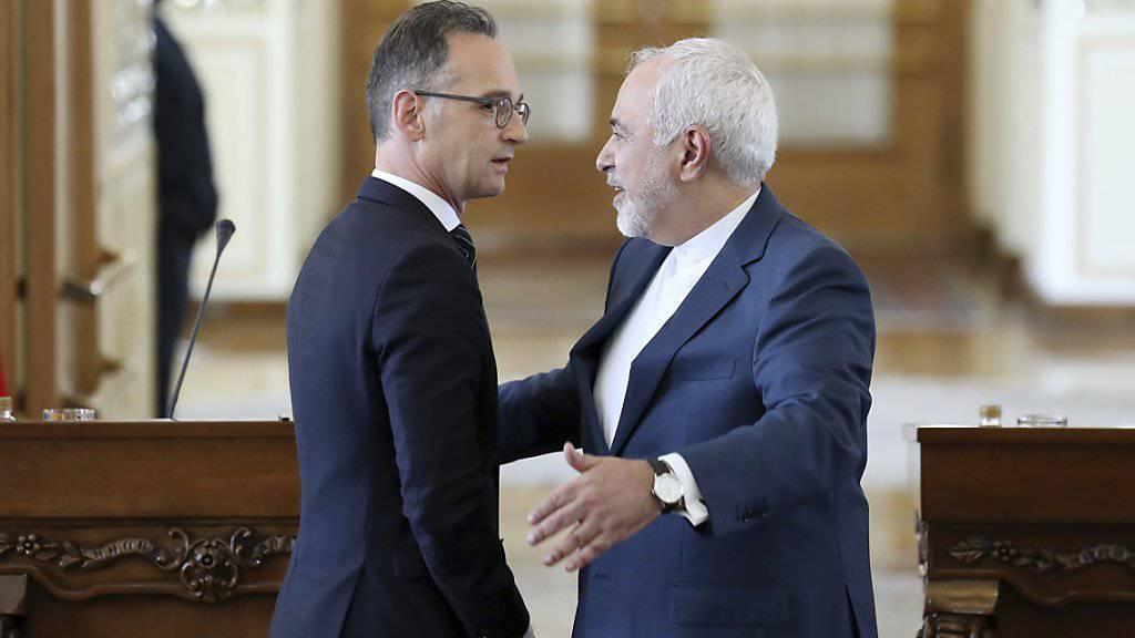 Der deutsche Aussenminister Heiko Maas (links) in Teheran mit seinem iranischen Amtskollegen Mohammed Dschawad Sarif.