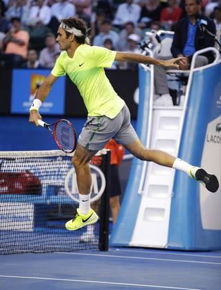 Auch spektakuläre Punkte zeigt Federer