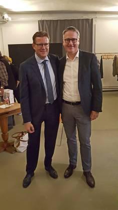 Nationalratskandidaten Kantonsrat Josef Wiederkehr und Stadtpräsident Roger Bachmann
