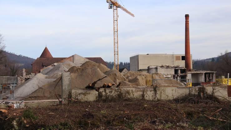 Zwingner Einwohner setzen sich mit einer Petition für den Erhalt des Industriekamins auf dem Areal der ehemaligen Papierfabrik in Zwingen ein.