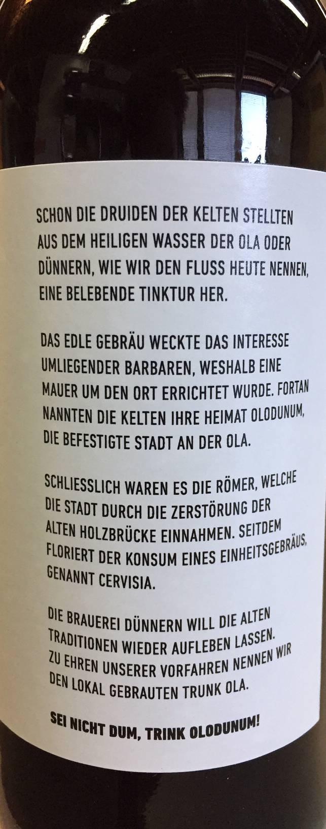 Historische Spurensuche auf dem Flaschenhals bei Ola.
