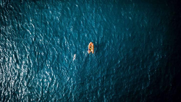 André Wiersig unterwegs in der Cook Strait (Neuseeland).