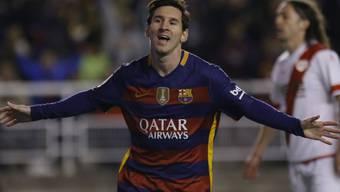 Barcelona-Superstart Lionel Messi schiesst auch gegen Rayo Vallecano Tor um Tor