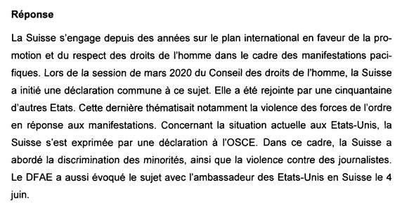 «Das EDA hat dieses Thema auch mit dem US-Botschafter in der Schweiz am 4. Juni angesprochen.»