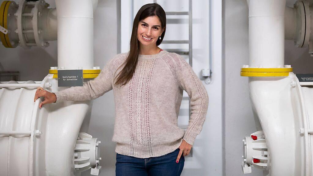 Denise Mitrano von der ETH Zürich wird mit dem diesjährigen Marie Heim-Vögtlin-Preis geehrt. Sie entwickelte ein Verfahren, um die Verbreitungswege von Mikro- und Nanoplastikteilchen nachzuverfolgen. (Pressebild)