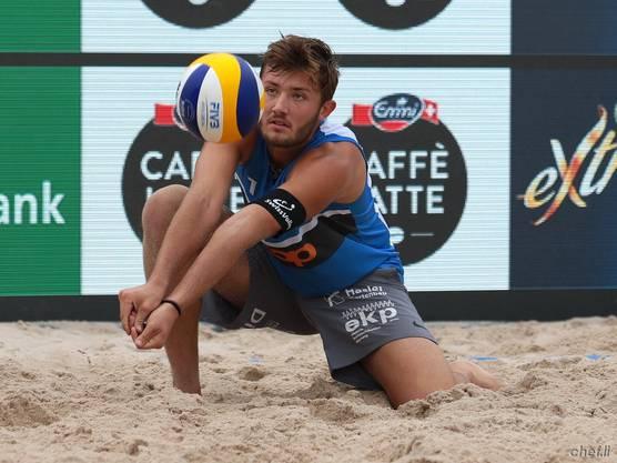 Der junge Leo Dillier zeigte eine hervorragende Beachvolleyball-Saison.