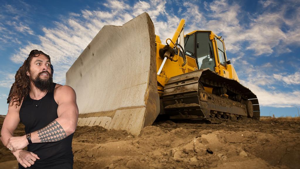 Jason Momoa gegen den Bulldozer