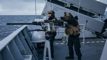 """Grösstes Manöver seit dem Kalten Krieg angelaufen: Norwegische Marinesoldaten an der Übung """"Trident Juncture 18""""."""