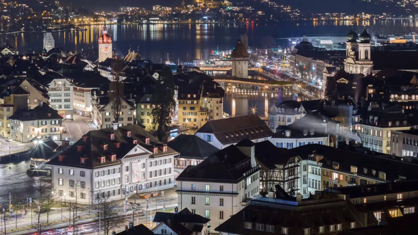 So schön habt ihr die Stadt Luzern noch nie gesehen