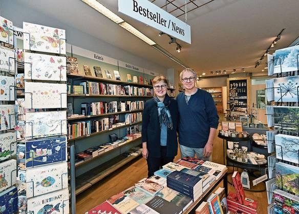 Anita und Christian Meyer in der Buchhandlung Klosterplatz (Archivbild)